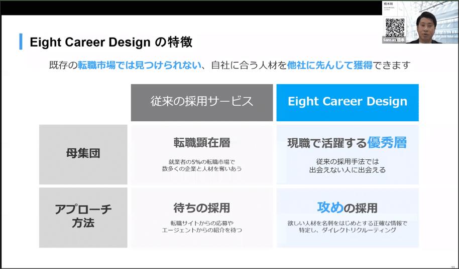 eight career design 特徴